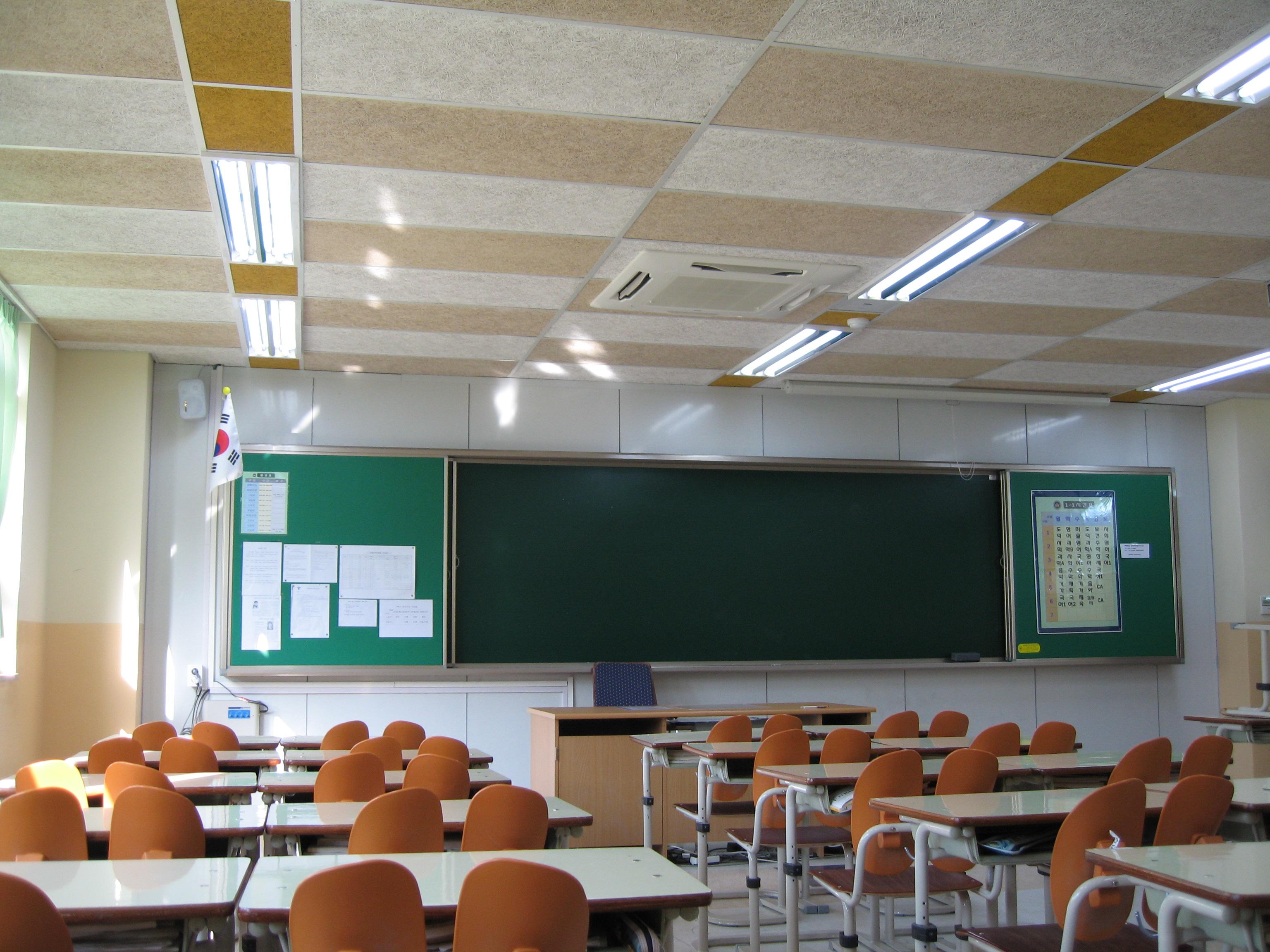 教室吊顶木丝吸音板